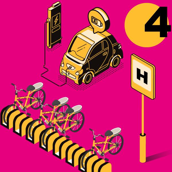 Hubs und Mobilitätsstationen